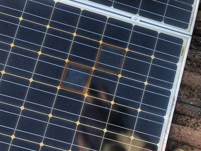 solar cell burnt