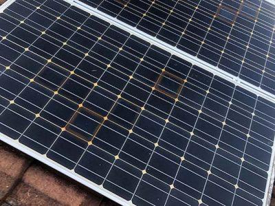solar cells burnt on cheap solar panels