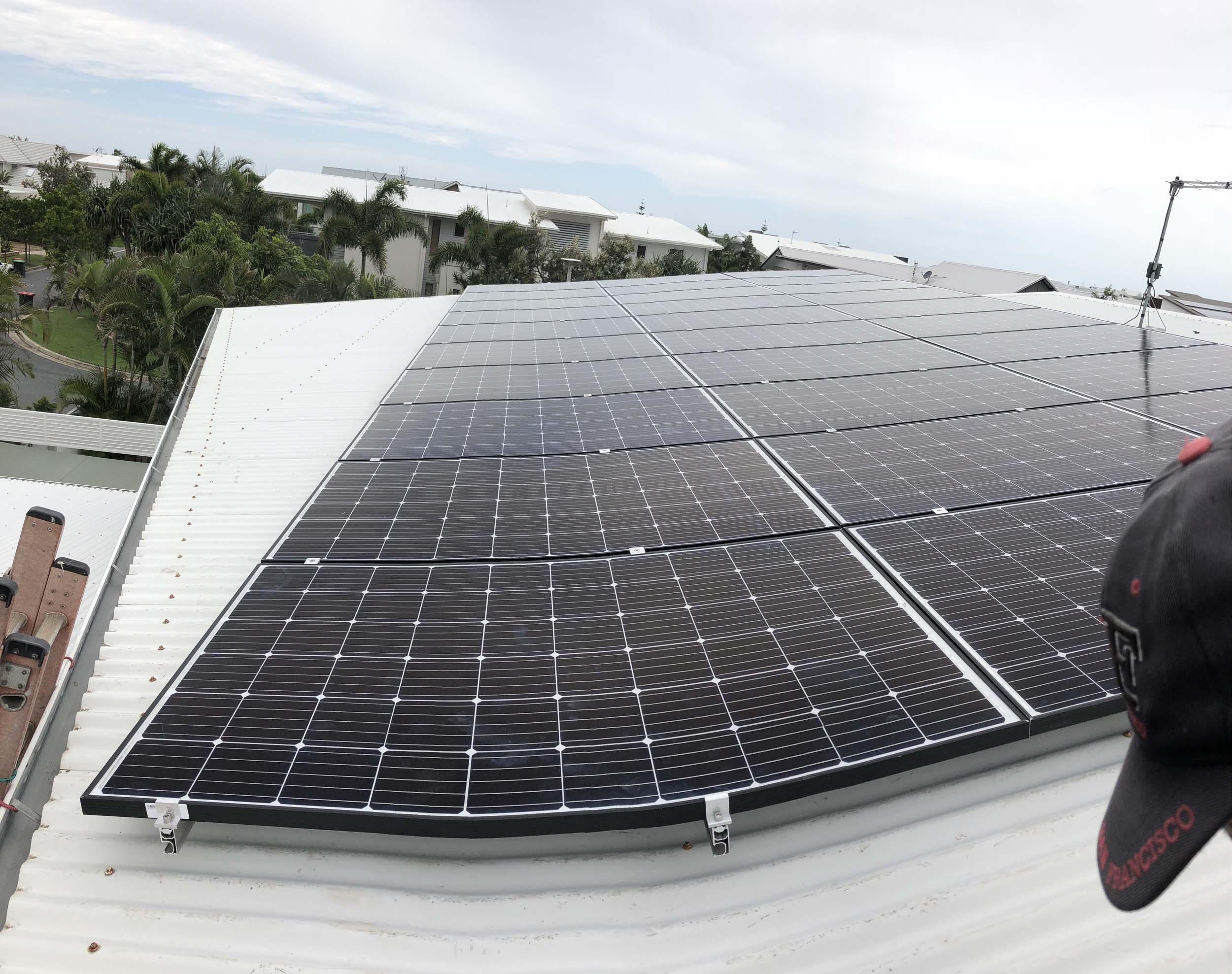 Kingscliff solar panels installation